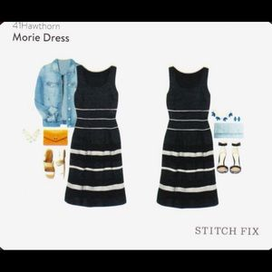 41 hawthorn Morie black and white striped dress